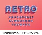 retro vintage 3 dimension 3d... | Shutterstock .eps vector #1118897996