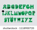 green monster typography design ...   Shutterstock .eps vector #1118900720