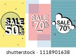 sale banner with pastel color... | Shutterstock .eps vector #1118901638