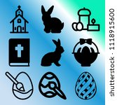 vector icon set  about easter... | Shutterstock .eps vector #1118915600
