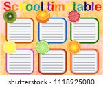 school timetable  a weekly... | Shutterstock .eps vector #1118925080