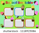 school timetable  a weekly... | Shutterstock .eps vector #1118925086