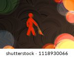 neon red blind icon on the... | Shutterstock . vector #1118930066