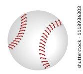 baseball icon vector isolated... | Shutterstock .eps vector #1118936303