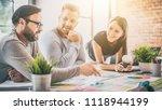 business people meeting at... | Shutterstock . vector #1118944199