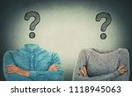incognito man and woman with... | Shutterstock . vector #1118945063