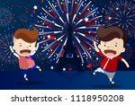 cartoon design for '14 juillet' ... | Shutterstock .eps vector #1118950208