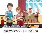 a vector illustration of family ... | Shutterstock .eps vector #111895070