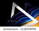rainbow fluid colors wave and... | Shutterstock .eps vector #1118958998