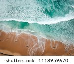 aerial view of sandy beach with ... | Shutterstock . vector #1118959670