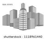 cityscape background. vector... | Shutterstock .eps vector #1118961440