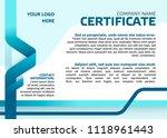 business certificate template.... | Shutterstock .eps vector #1118961443