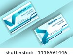 business card template with... | Shutterstock .eps vector #1118961446