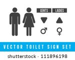 vector toilet signs set | Shutterstock .eps vector #111896198
