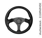 steering wheel  isolated on the ... | Shutterstock . vector #1118969450