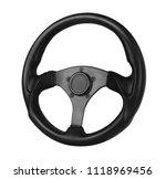 steering wheel  isolated on the ... | Shutterstock . vector #1118969456