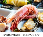 delicious dish of fresh fish... | Shutterstock . vector #1118973479