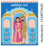vector design of indian couple...   Shutterstock .eps vector #1118973620