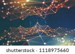 global network. blockchain 3d... | Shutterstock . vector #1118975660