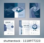 cover book design set  abstract ... | Shutterstock .eps vector #1118977223