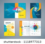 cover book design set  abstract ... | Shutterstock .eps vector #1118977313