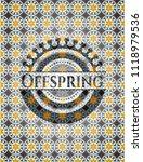 offspring arabesque style badge....   Shutterstock .eps vector #1118979536
