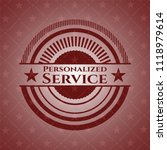 personalized service red emblem.... | Shutterstock .eps vector #1118979614
