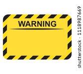 blank rectangle warning sign | Shutterstock .eps vector #1118987669