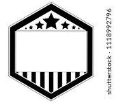 isolated monochrome american... | Shutterstock .eps vector #1118992796