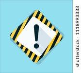 exclamation danger sign... | Shutterstock .eps vector #1118993333