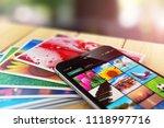 creative abstract 3d render of... | Shutterstock . vector #1118997716