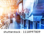 interior of chemical factory or ... | Shutterstock . vector #1118997809