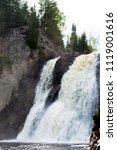 high falls of tettegouche state ... | Shutterstock . vector #1119001616