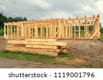 wooden construction of an... | Shutterstock . vector #1119001796