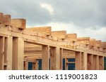 wooden construction of an... | Shutterstock . vector #1119001823