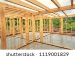 wooden construction of an... | Shutterstock . vector #1119001829