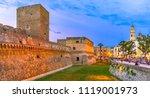 bari  italy  puglia  swabian... | Shutterstock . vector #1119001973