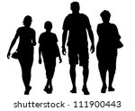 drawing parents and child | Shutterstock . vector #111900443