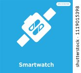 smartwatch vector icon isolated ... | Shutterstock .eps vector #1119015398