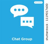 chat group vector icon isolated ... | Shutterstock .eps vector #1119017600