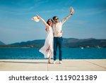 couple in love  enjoying the...   Shutterstock . vector #1119021389