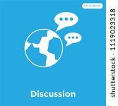 discussion vector icon isolated ... | Shutterstock .eps vector #1119023318
