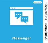 messenger vector icon isolated... | Shutterstock .eps vector #1119026054