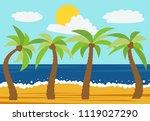 cartoon nature landscape with...   Shutterstock . vector #1119027290