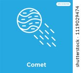 comet vector icon isolated on... | Shutterstock .eps vector #1119029474