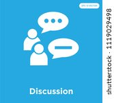 discussion vector icon isolated ... | Shutterstock .eps vector #1119029498