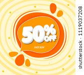 summer sale 50  off tag ... | Shutterstock .eps vector #1119037208