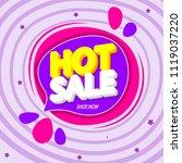 hot sale  speech bubble banner  ... | Shutterstock .eps vector #1119037220