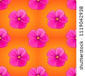 soft watercolor cosmos flower...   Shutterstock .eps vector #1119042938