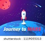 journey to mars cartoon vector... | Shutterstock .eps vector #1119055313